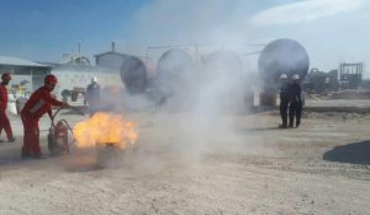 مانور پدافند غیرعامل در کارخانه اکسید منیزیم سربیشه برگزار شد