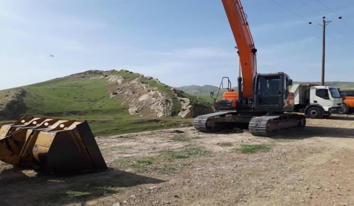 عملیات اجرایی قطعه اول راه دسترسی به معادن گیلانغرب آغاز شد